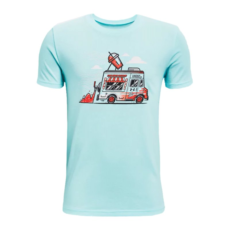 Under Armour Ice Cream T-Shirt Kids Blau F441 - tuerkis