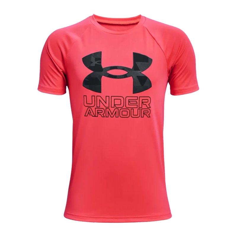 Under Armour Tech Hybrid Print T-Shirt Kids F628 - rot
