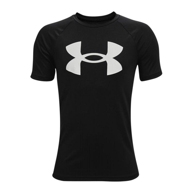 Under Armour Tech Big Logo T-Shirt Kids F001 - schwarz