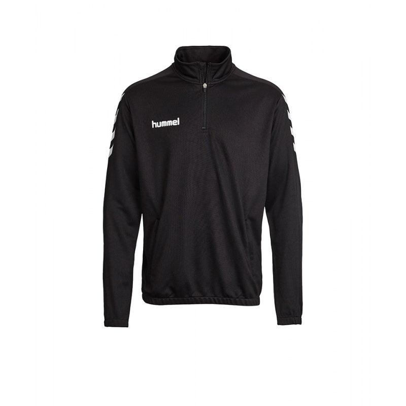 Hummel Core HalfZip Sweatshirt Kids Schwarz F2001 - schwarz