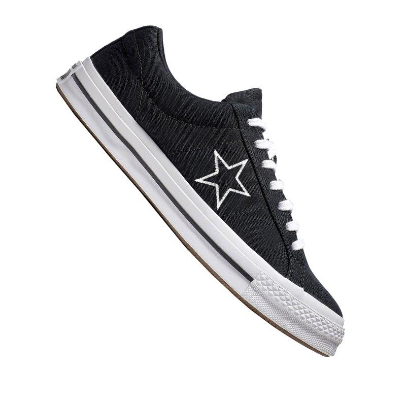 Converse One Star OX Sneaker Schwarz F007 - schwarz