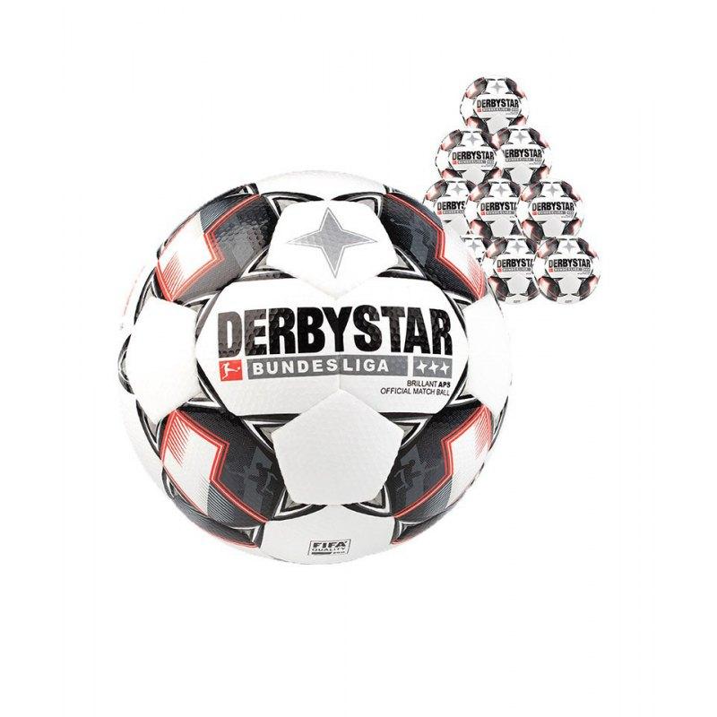 Derbystar Bundesliga Brillant APS 10xFussball Weiss F123 - weiss