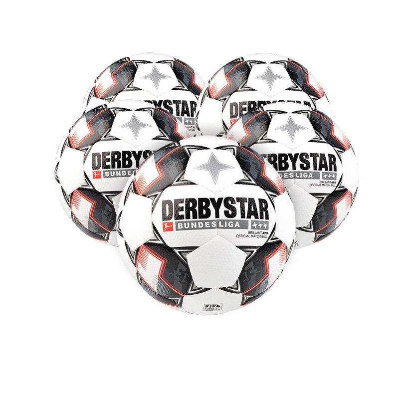 Derbystar Bundesliga Brillant APS 5xFussball Weiss F123 - weiss