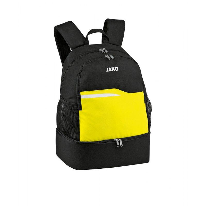 Jako Competition 2.0 Rucksack Schwarz Gelb F03 - schwarz