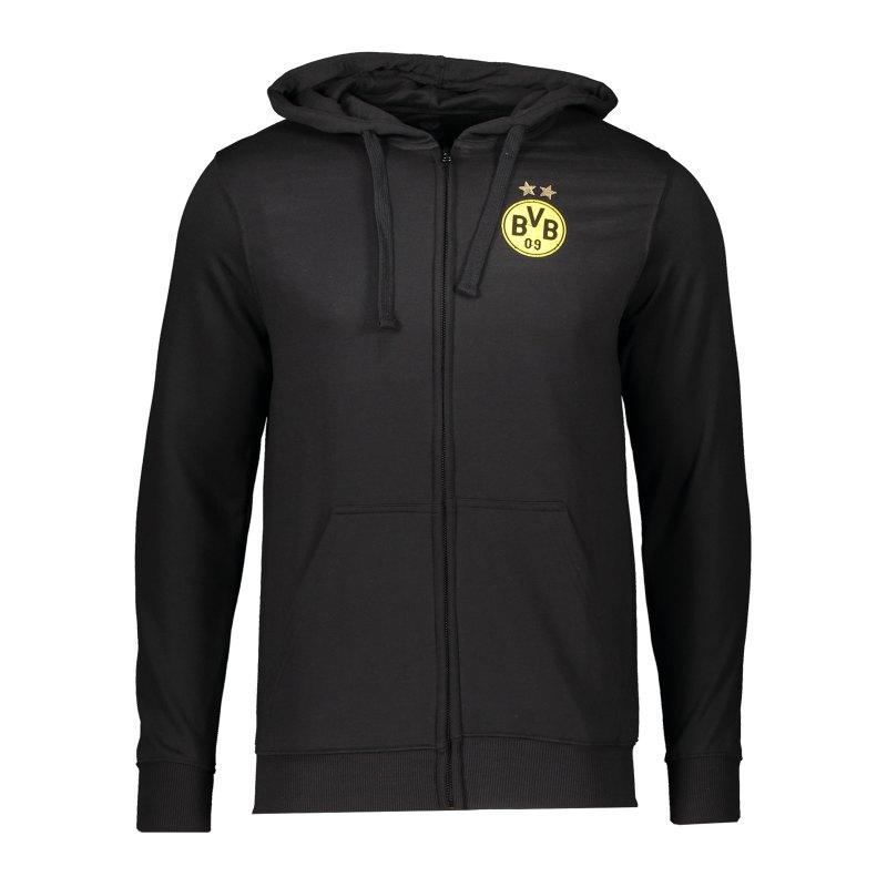 BVB Borussia Dortmund Kapuzenjacke Schwarz - schwarz