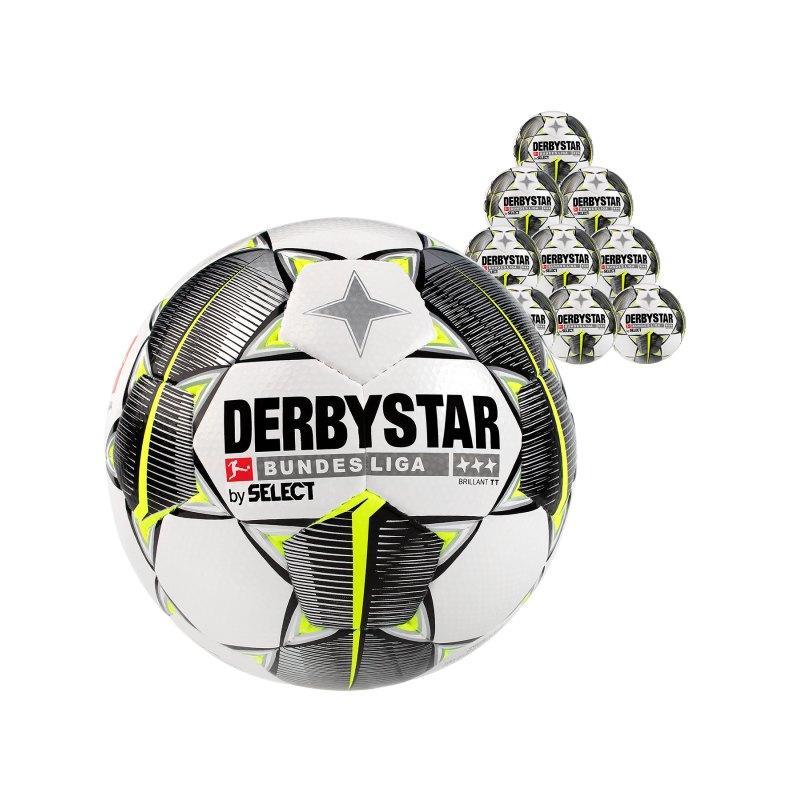 Derbystar Buli Bril TT HS Trainingsball 10x Gr.5 Weiss F19 - weiss