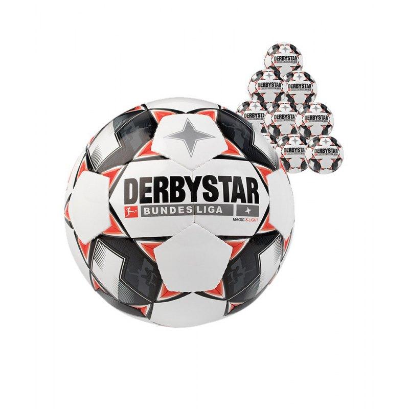 Derbystar Bundesliga Magic 10xS-Lightball 290 Gramm Gr. 5 Weiss F123 - weiss
