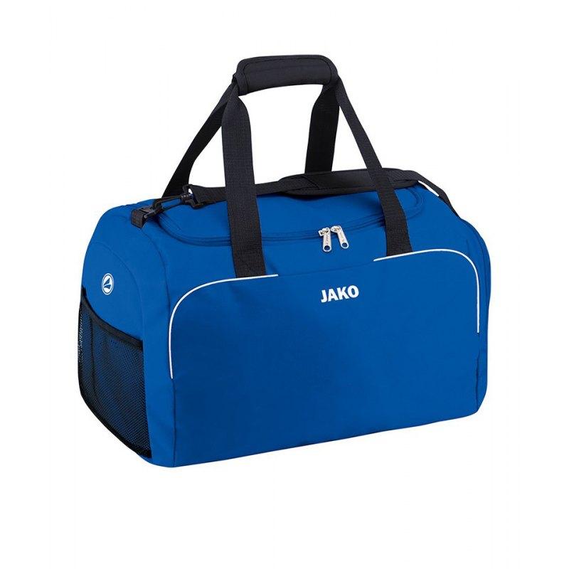 Jako Classico Sporttasche Gr. 2 Blau Weiss F04 - blau