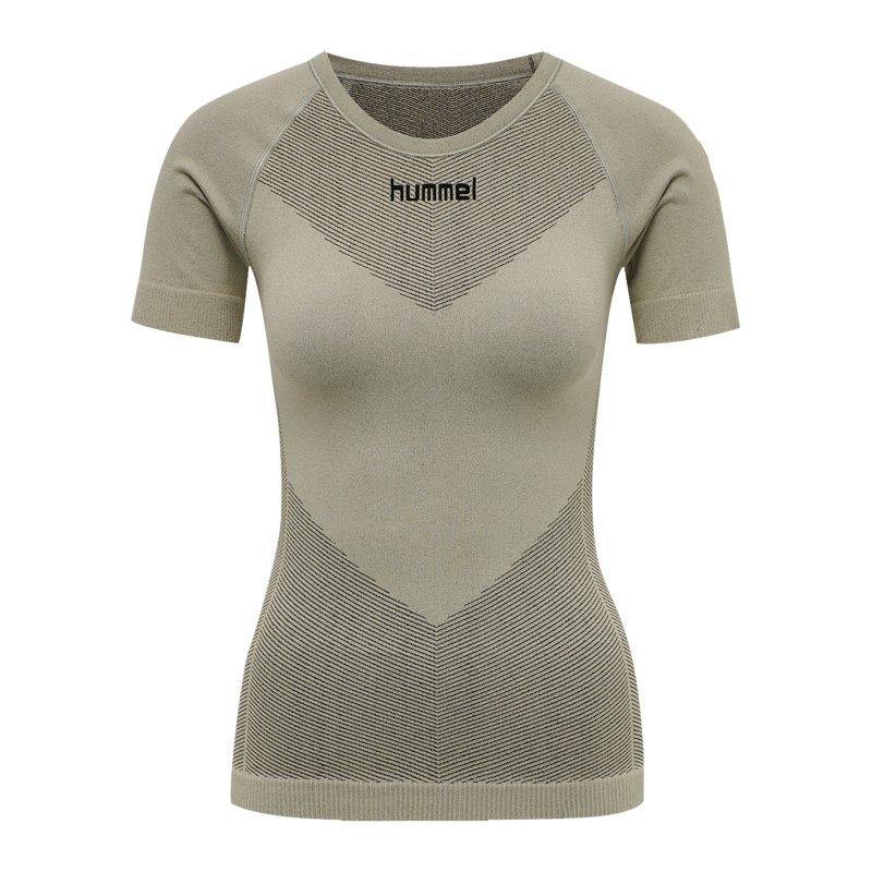 Hummel First Seamless T-Shirt Damen Grün F2931 - gruen