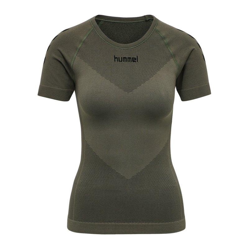Hummel First Seamless T-Shirt Damen Khaki F6084 - khaki