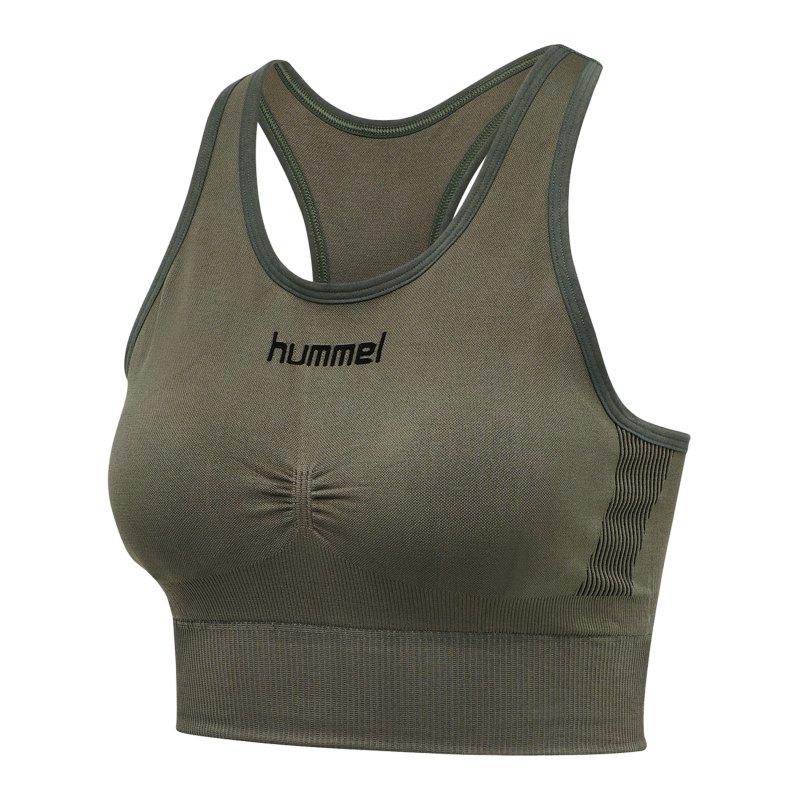Hummel First Seamless Sport-BH Bra Damen F6084 - khaki