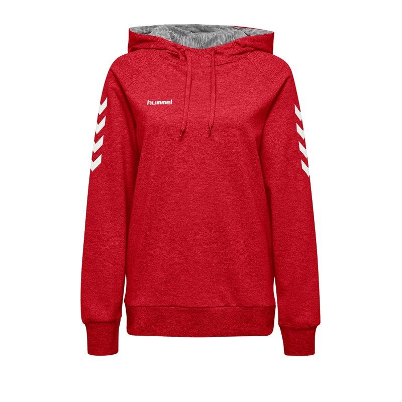 Hummel Cotton Hoody Damen Rot F3062 - Rot