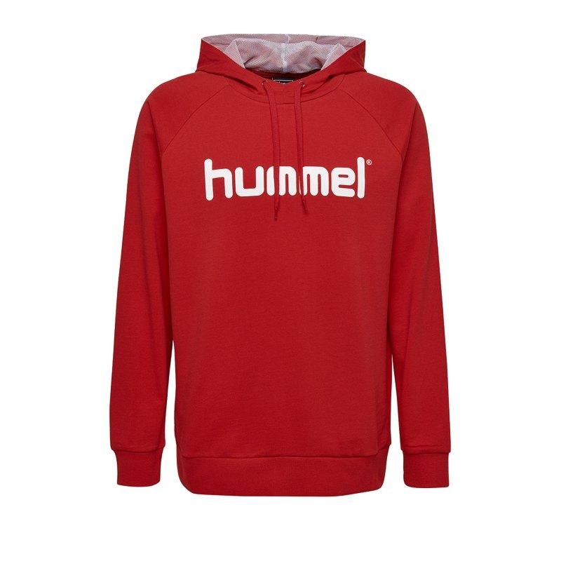 Hummel Cotton Logo Hoody Rot F3062 - Rot