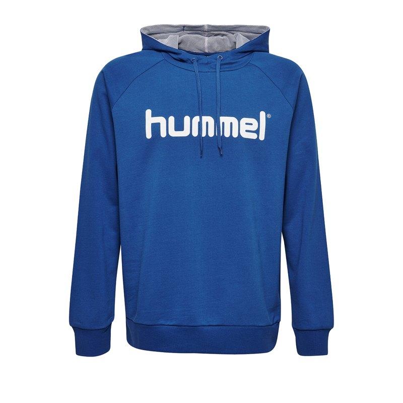 Hummel Cotton Logo Hoody Kids Blau F7045 - Blau