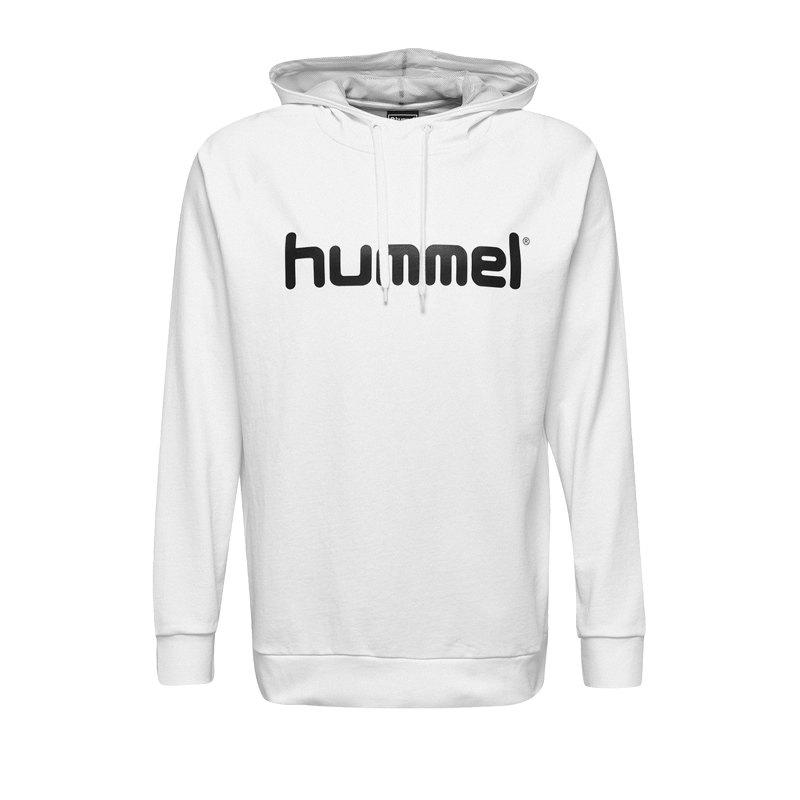 Hummel Cotton Logo Hoody Kids Weiss F9001 - Weiss