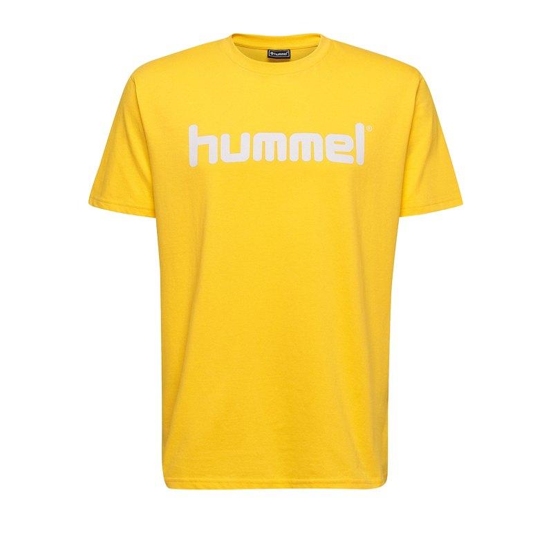 Hummel Cotton T-Shirt Logo Kids Gelb F5001 - Gelb