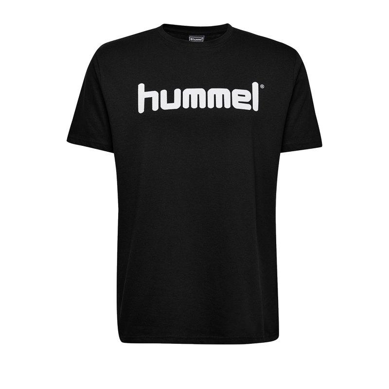 Hummel Cotton T-Shirt Logo Kids Schwarz F2001 - Schwarz