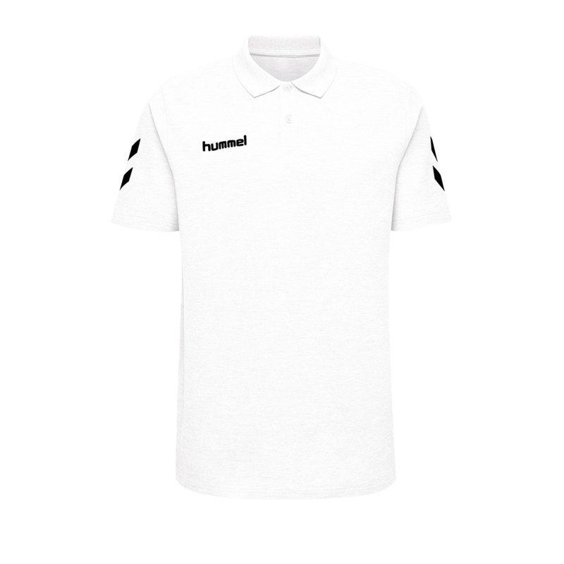 Hummel Cotton Poloshirt Weiss F9001 - Weiss
