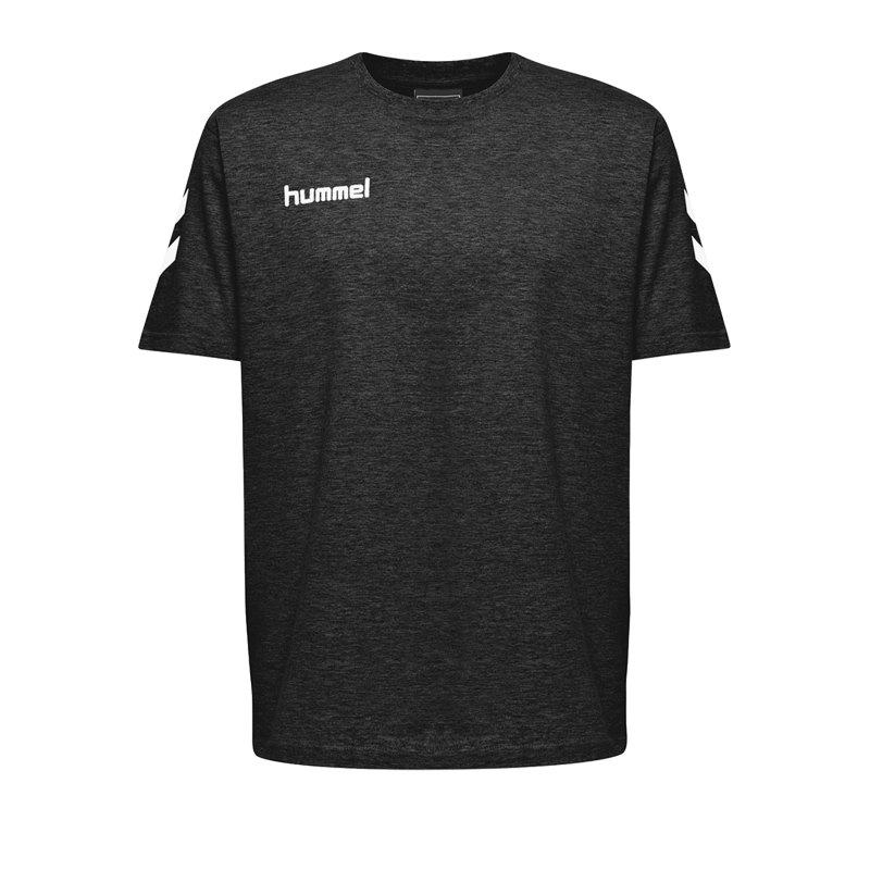 Hummel Cotton T-Shirt Schwarz F2001 - Schwarz