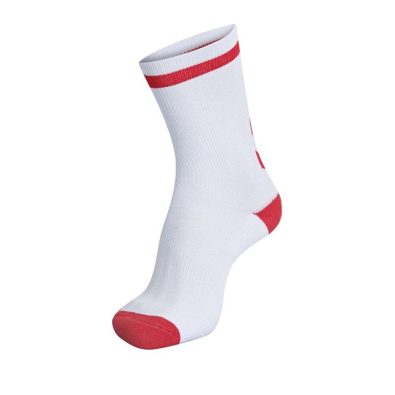 Hummel Elite Indoor Sock Low Socken Weiss F9402 - Weiss
