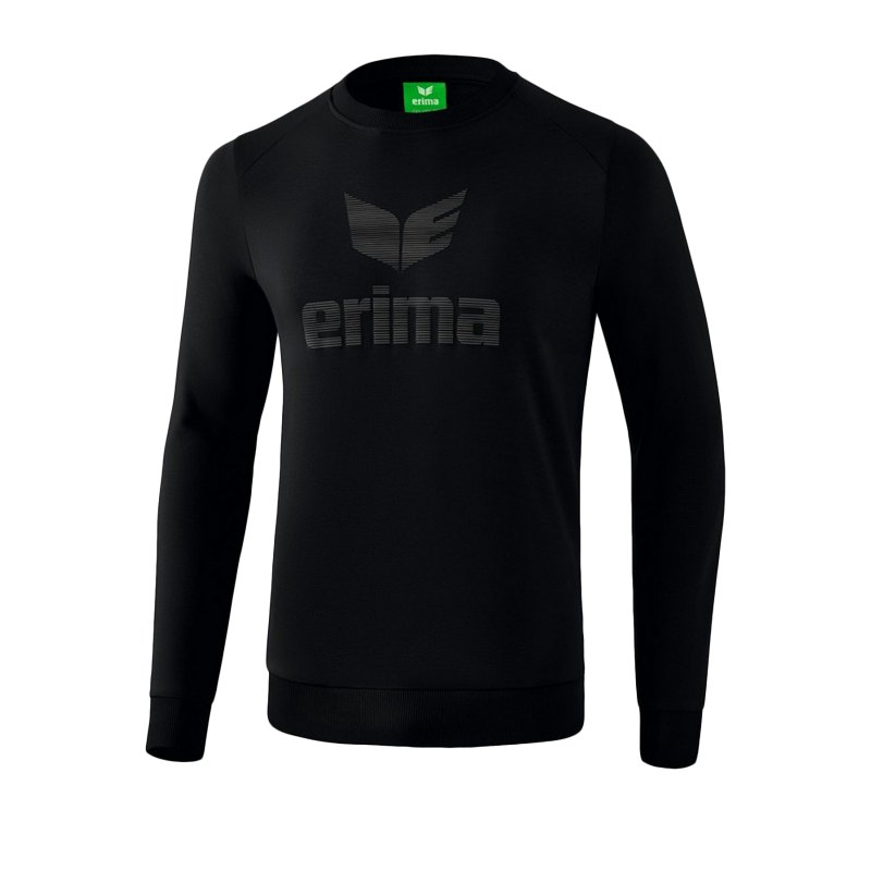Erima Essential Sweatshirt Schwarz Grau - Schwarz