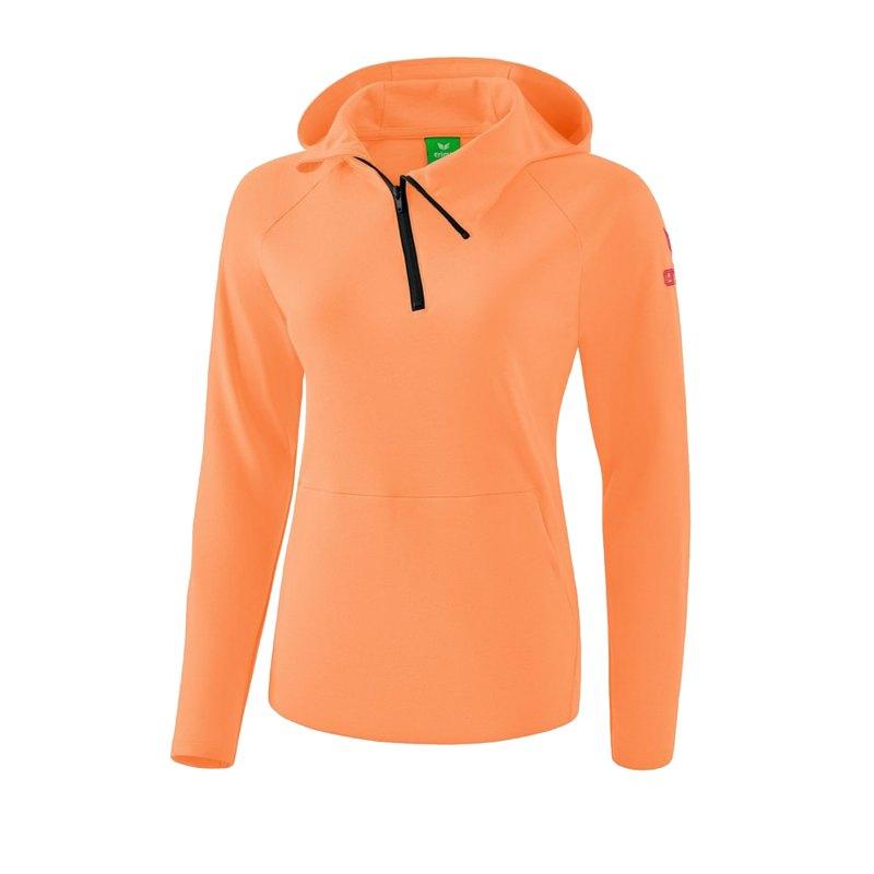 Erima Essential Kapuzensweat Damen Orange - Orange