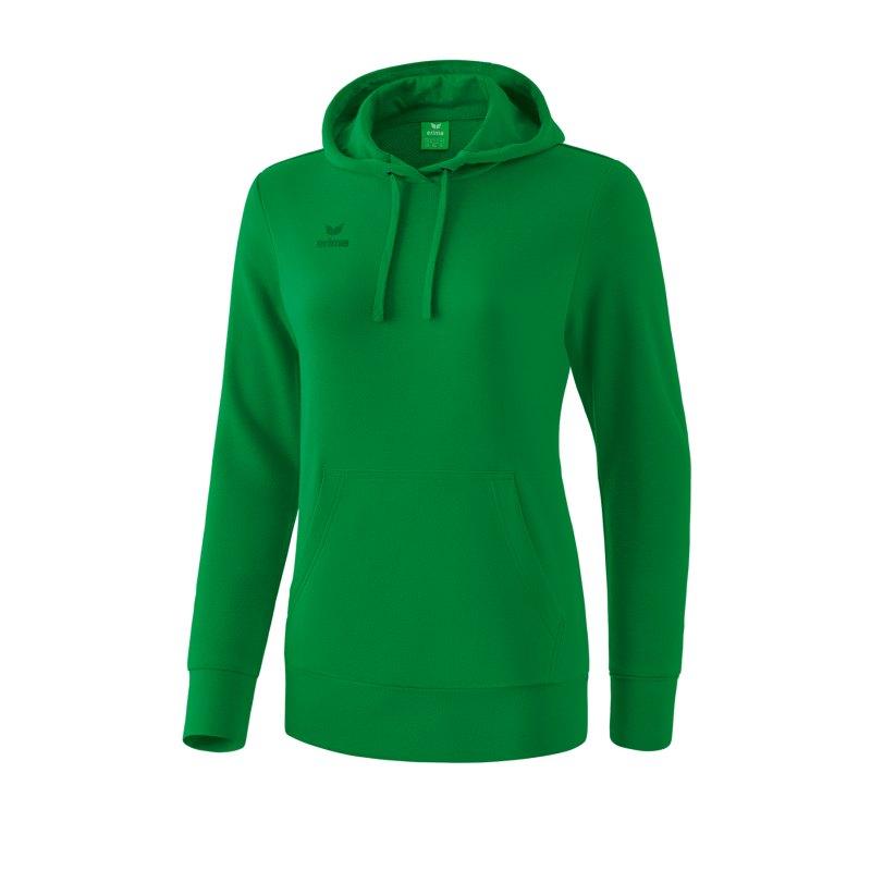 Erima Basic Hoody Damen Grün - gruen