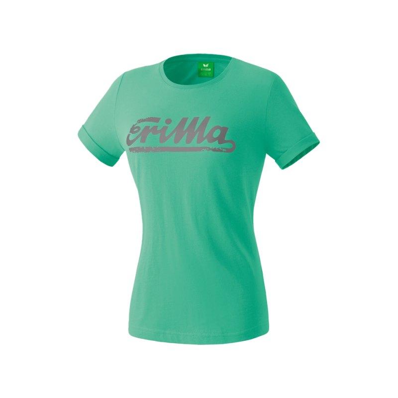 Erima Retro T-Shirt Kids Hellgrün Grau - gruen