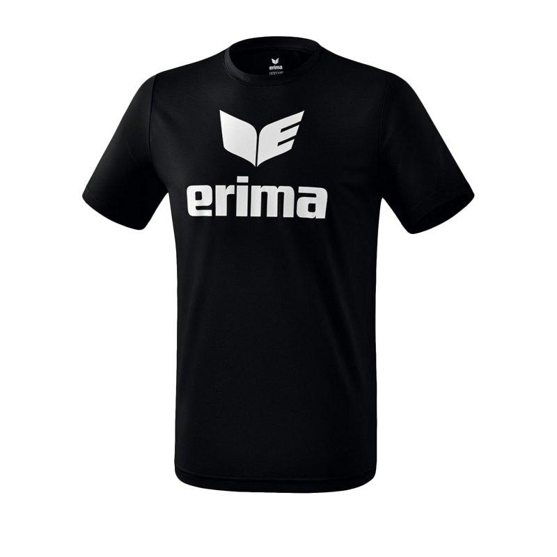 Erima Funktions Promo T-Shirt Schwarz Weiss - Schwarz