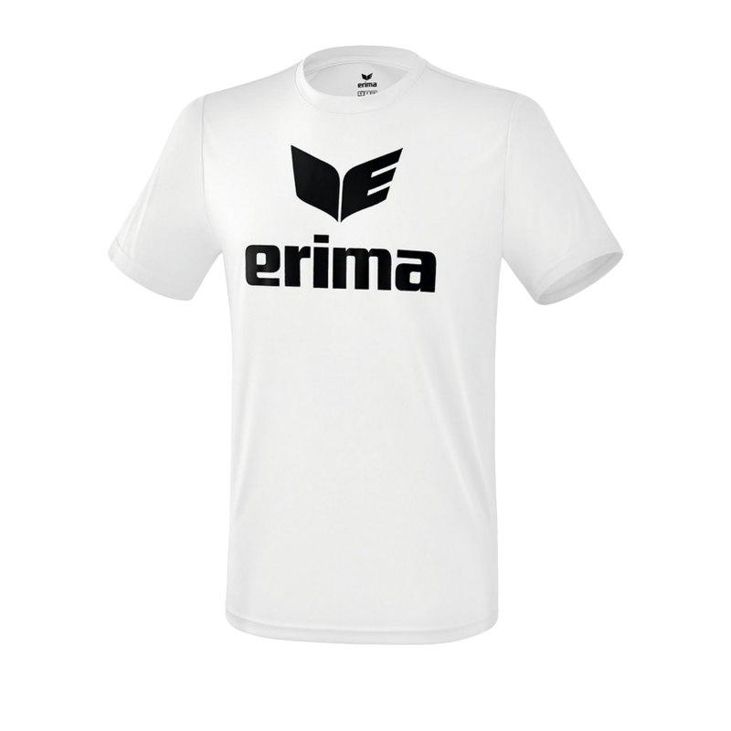Erima Funktions Promo T-Shirt Kids Weiss Schwarz - Weiss