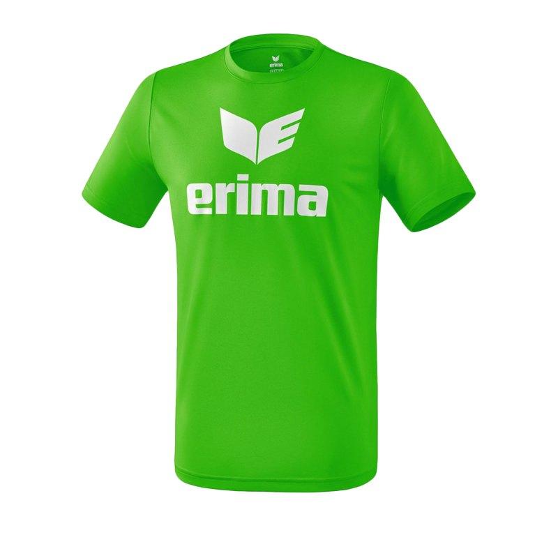 Erima Funktions Promo T-Shirt Kids Grün Weiss - Gruen