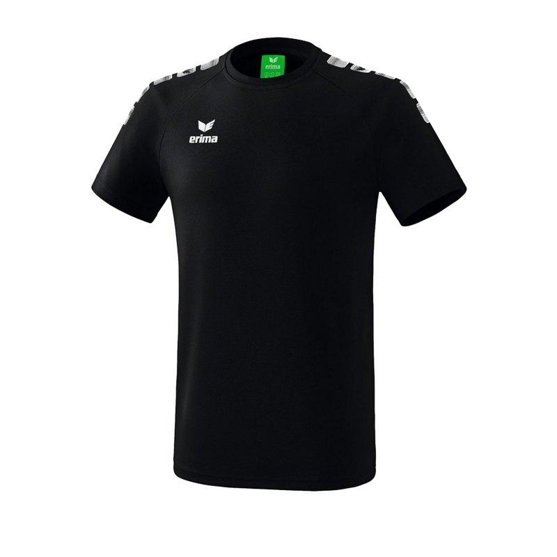 Erima Essential 5-C T-Shirt Kids Schwarz Weiss - Schwarz