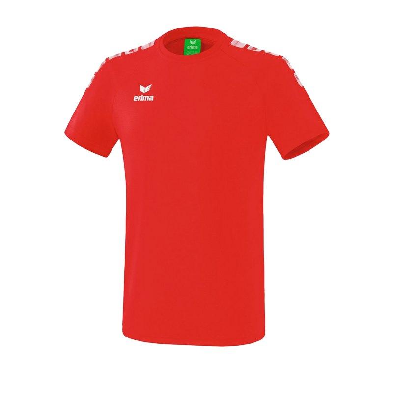 Erima Essential 5-C T-Shirt Kids Rot Weiss - Rot