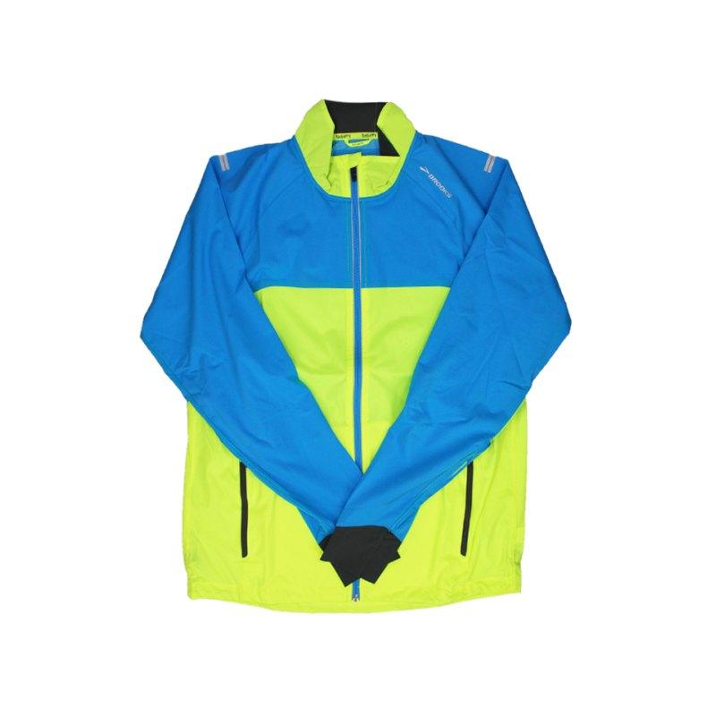 Brooks Drift Shell Jacke Running Gelb Blau F340 - gelb
