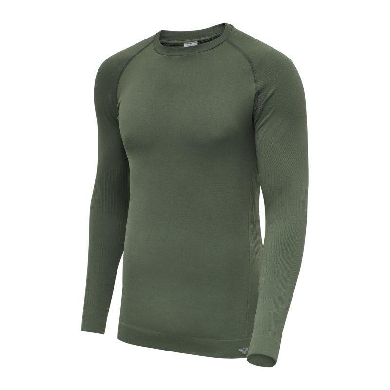 Hummel hmlstroke Seamless Sweatshirt Grün F6173 - gruen