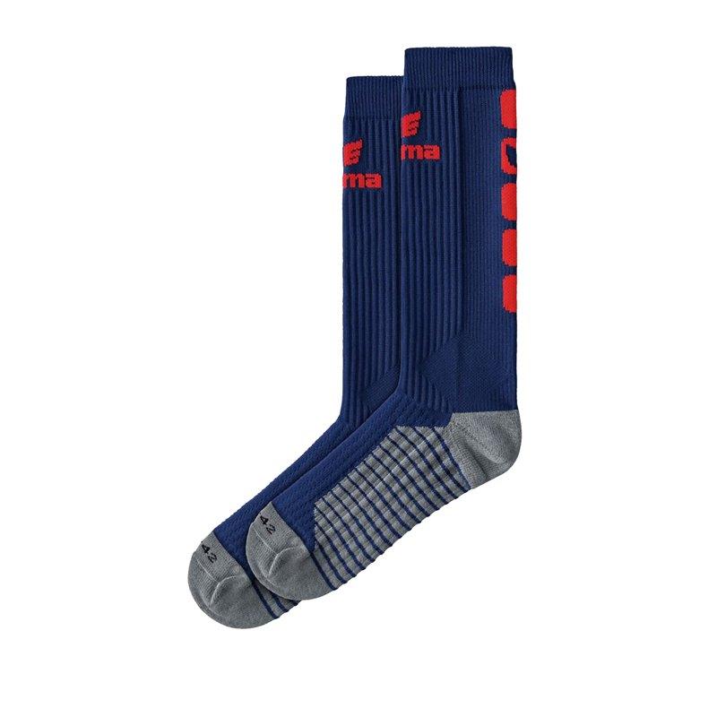 Erima CLASSIC 5-C Socken lang Blau Rot - Blau