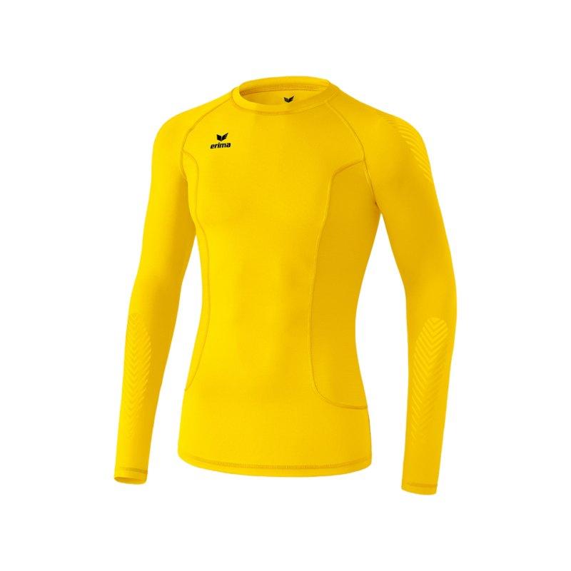 Erima Longsleeve Shirt Elemental Gelb - gelb