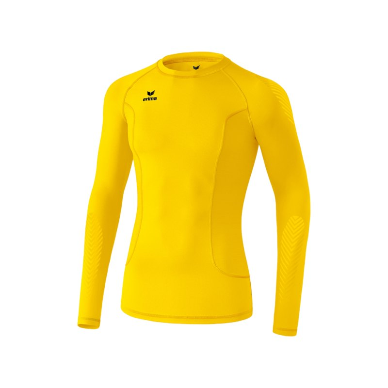 Erima Longsleeve Shirt Elemental Kinder Gelb - gelb