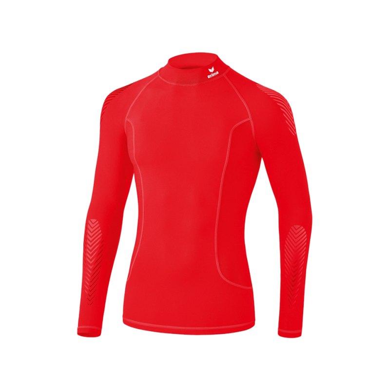 Erima Elemental LS Shirt mit Kragen Rot - rot