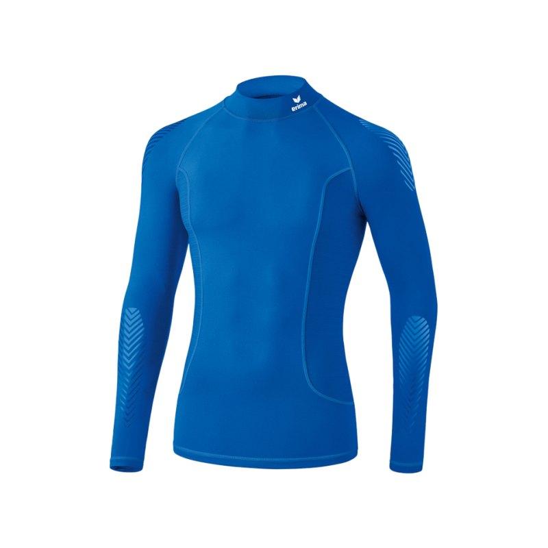 Erima Elemental LS Shirt mit Kragen Blau - blau