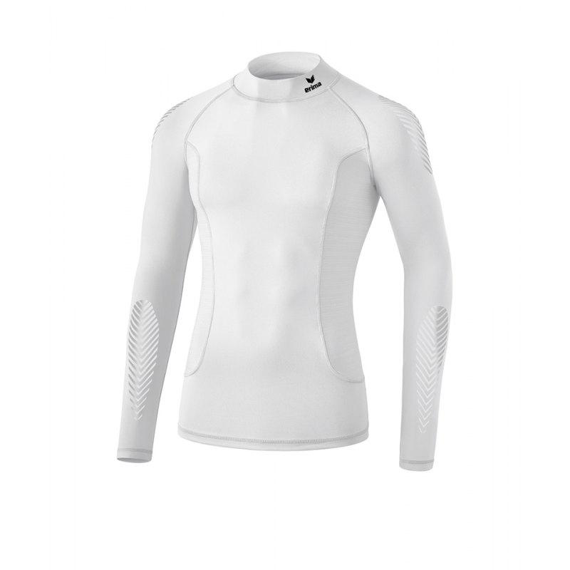 Erima Elemental LS Shirt mit Kragen Weiss - weiss