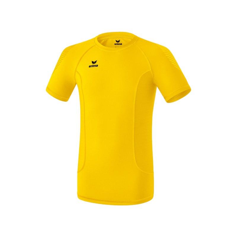 Erima Elemental Shortsleeve Shirt Kids Gelb - gelb