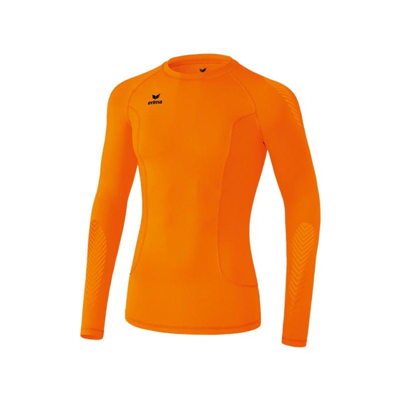 Erima Longsleeve Shirt Elemental Kinder Orange - orange