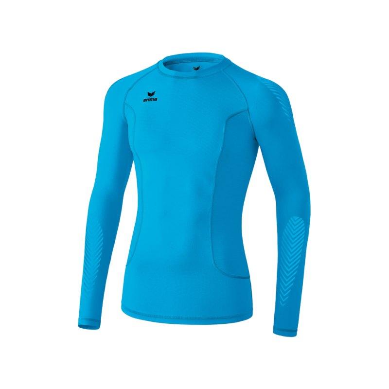 Erima Longsleeve Shirt Elemental Kinder Blau - blau