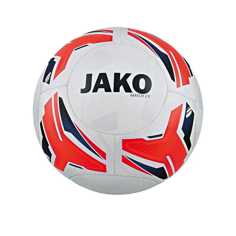 Jako Match 2.0 Spielball Weiss Orange Blau F00 - Weiss