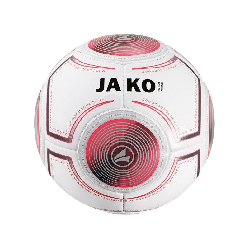 Jako Spielball Futsal 420 Gramm Weiss Grau Rot F18 - weiss
