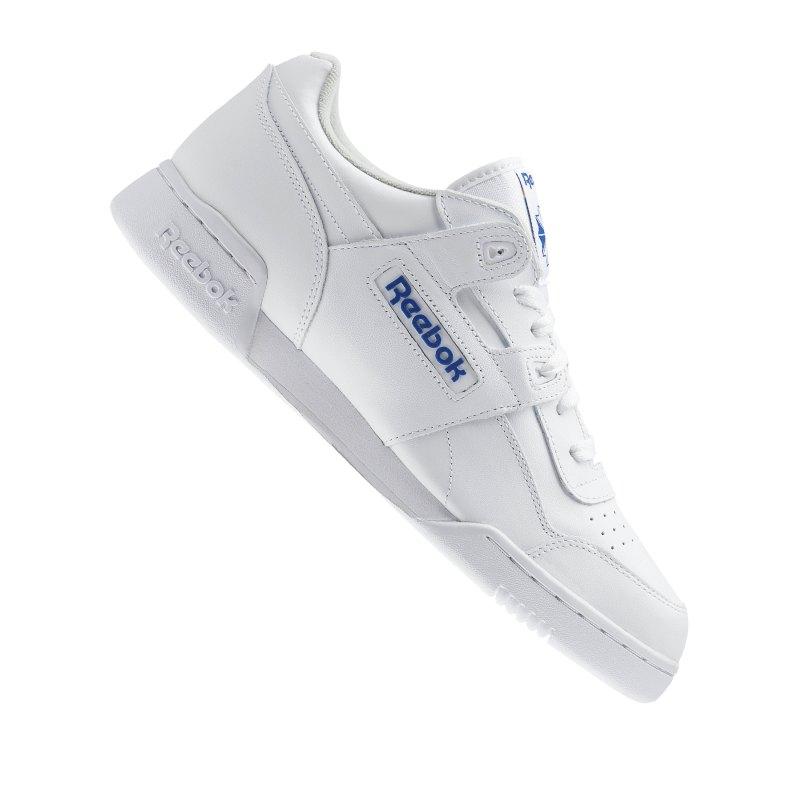Reebok Workout Plus Sneaker Weiss Blau - weiss