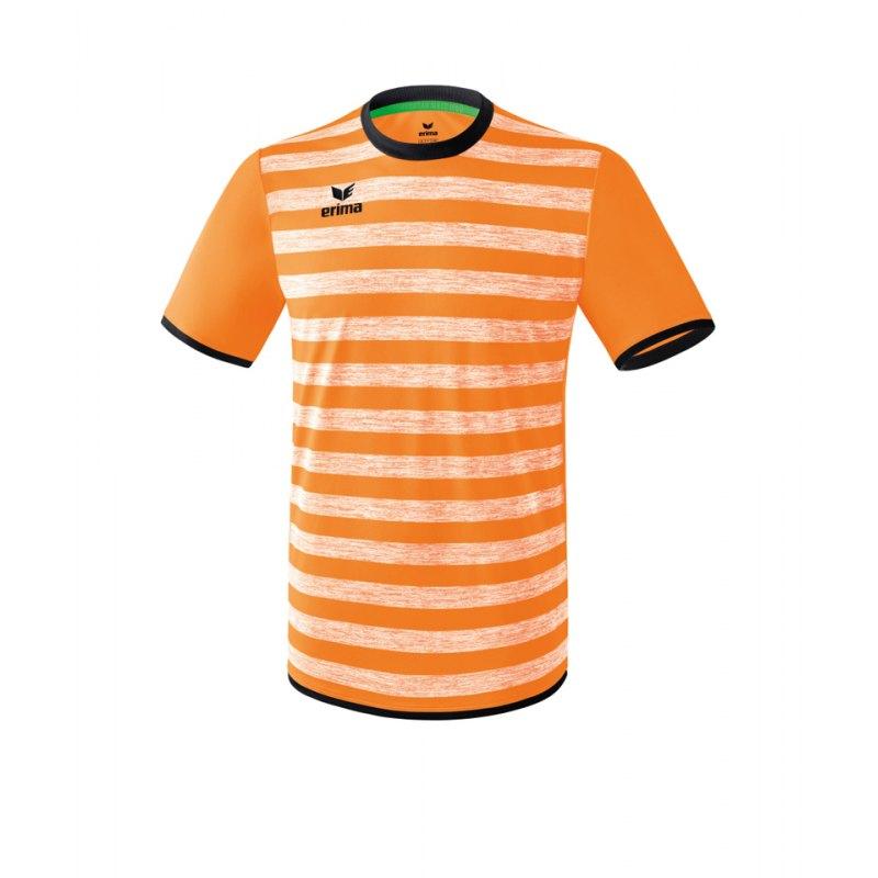Erima Barcelona Trikot kurzarm Kids Orange Schwarz - orange