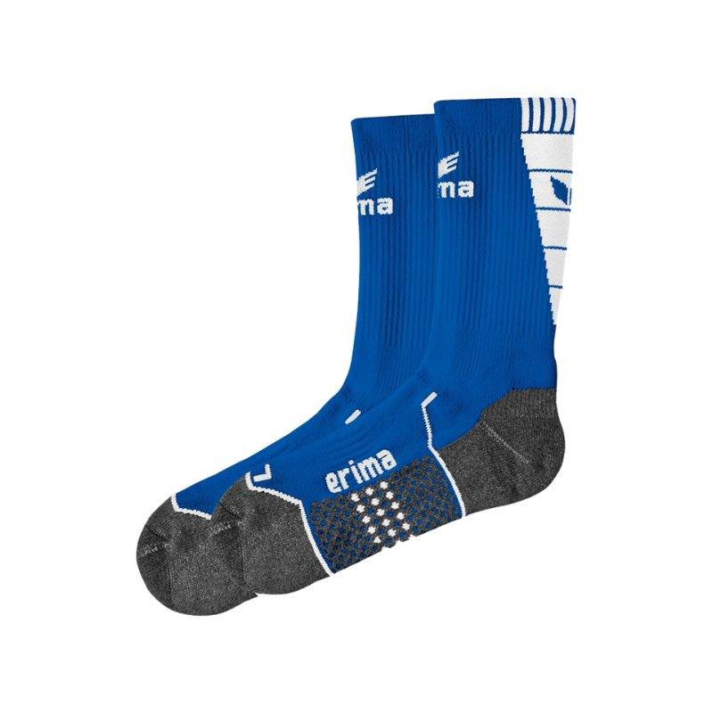 Erima Short Socks Trainingssocken Blau Weiss - blau