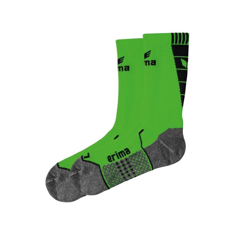 Erima Short Socks Trainingssocken Grün Schwarz - gruen
